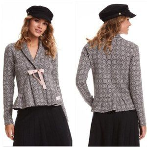 Odd Molly Almost Black Canna Tie Front Cardigan